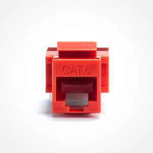 Cat6 Keystone Jack - Toolless, Red Image 3