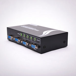 4x1 VGA Switch with 3.5mm Audio Rear View