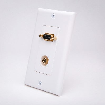 Vanco 281212 VGA Wall Plate w/ 3.5mm