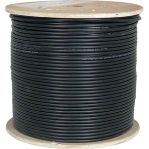 1000ft Cat6A Bulk Cable 10GS CMX Outdoor UV-Rated Black