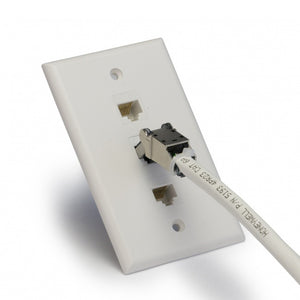 Flex Connectors in Use with Wall Plate