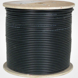 Vertical Cat6A Bulk Cable 1000ft Shielded Cable - Black