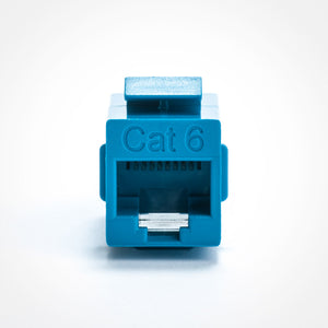 Cat6 Keystone Jack Coupler, Blue Image 2