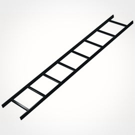 Middle Atlantic CL Series CLB-6 6ft x 12 Inch Straight Ladder Section, Black