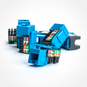 Cat6 Keystone Jack Of 90 Degree In Blue With 25 Packs