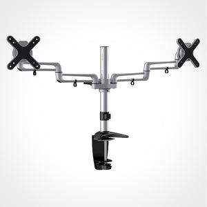 Rhino Brackets Dual Monitor Desktop Mount for 13 to 27 Inch Screens