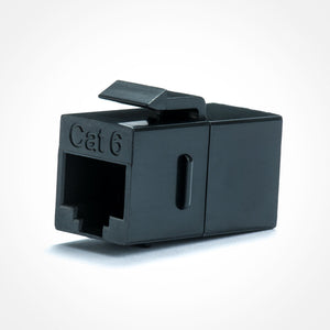 Cat6 Keystone Jack Coupler In Black