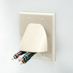 Quest VHT-8202 2 Gang Bulk Cable Wall Plate Image 6