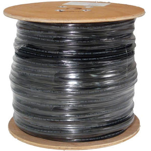 Cat6 Bulk Cable 1000ft Solid Outdoor, 23AWG UTP Black