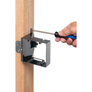 Arlington LVA2 Adjustable Depth Mounting Bracket, Dual Gang Image 3