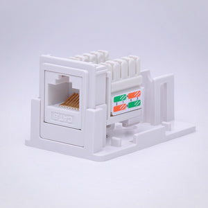 1 Port CAT6 Surface Mount Box Side Internal View