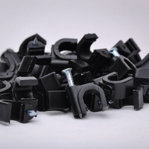 Nail-in Coax Cable Clip for RG-59 - 6mm 100 Pack