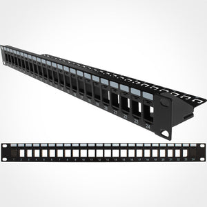Vertical Cable 24 Port Blank Patch Panel with Cable Manager