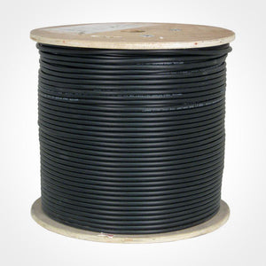 Vertical Cable 107-1234/DB/6S 1000ft RG-6 Gel-Filled Direct Burial Coax Cable spool