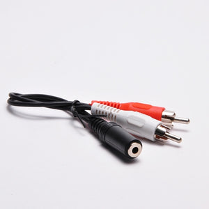 (2) RCA Male to 3.5mm Stereo Female Adapter - 6 Inch Cable Image 2