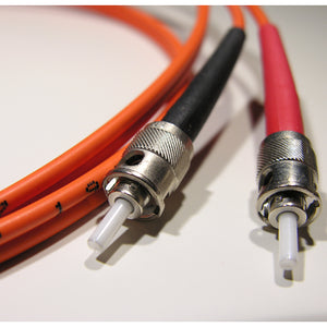 ST-ST Multimode OM1 Duplex 62.5/125 Fiber Patch Cable, UL, ROHS
