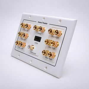 7.1 Home Theater Wall Plate w/ HDMI and Subwoofer