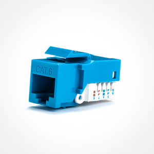 Cat6 Keystone Jack Toolless For Patch Panels - FireFold