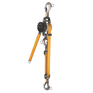 Web-Strap Ratchet Hoist with Hot Rings