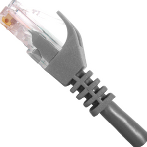 CAT5e Ethernet Patch Cable Snagless Gray, RJ45, M/M