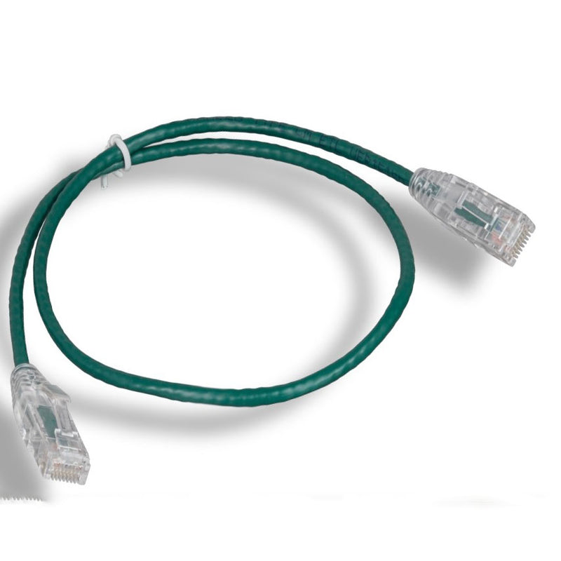 Cat6 Slim Ethernet Patch Cable, Green