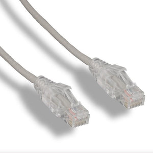 Cat6 Slim Ethernet Patch Cable, Gray