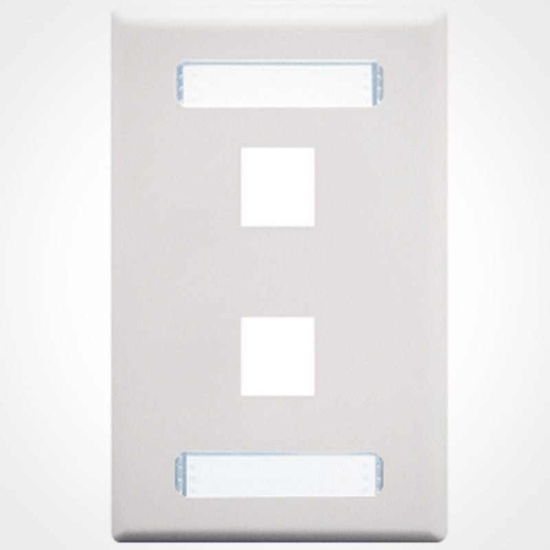 ICC Keystone Wall Plate with Dual Station IDs