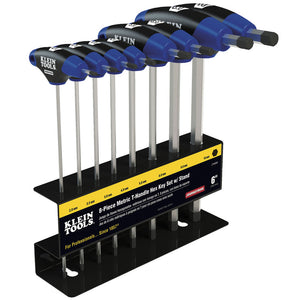 Klein Tools JTH68M Journeyman T-Handle Set, Metric, 6-Inch, 8-Piece