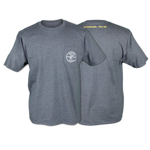 Klein Tools Pocket T, Short Sleeved, Gray, Lineman Logo