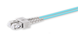 Techlogix Networx Armored fiber patch cord -- (5-50m) duplex multimode OM4 3.0mm fiber (LC/LC, LC/SC, SC/SC)