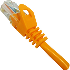 CAT5e Ethernet Patch Cable Snagless Orange, RJ45, M/M