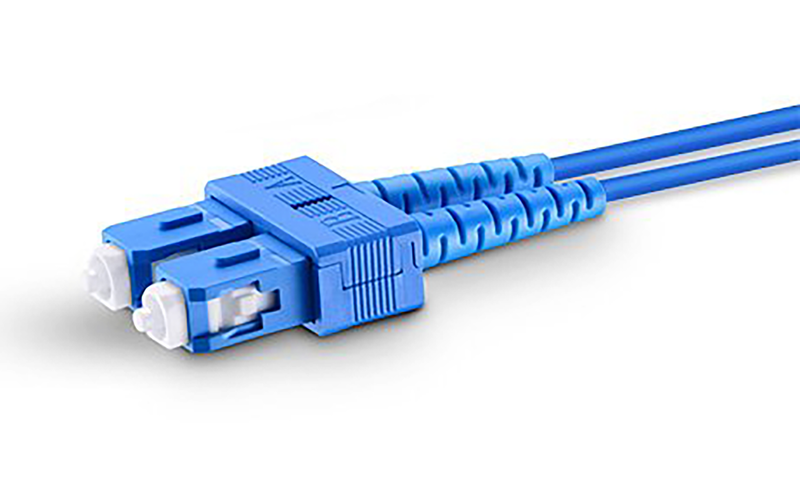 Techlogix Networx Armored fiber patch cord -- (5-30m) duplex single mode OS2 3.0mm fiber (LC/LC, LC/SC, SC/SC)