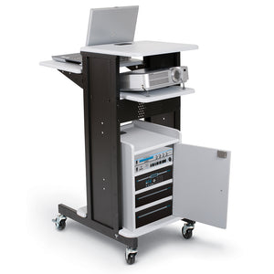 MooreCo Presentation Cart (Gray / Black)