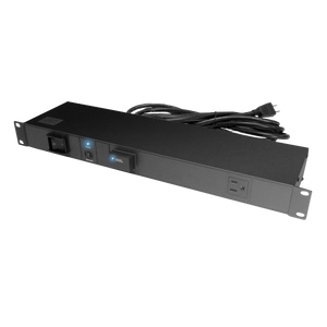 FORGE Horizontal Rack Mount Power Distribution Unit, 11 Outlets, 1U, w/Lightning Protection