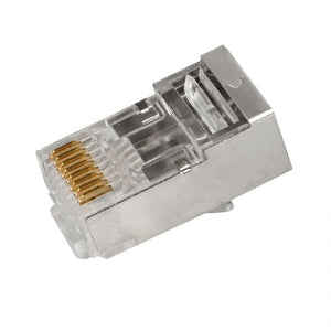 SCP Simply45 Rj45 Shielded Pass Through Modular Plug For 24Awg (Up To 1.05Mm) Cat5E Stp & Hncpro Stp Cables, Ul94 V0 For Cmp To Cm, Lszh-B2Ca To Eca- 50 Pieces