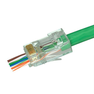 SCP Simply45 Rj45 Pass Through Modular Plugs For 23Awg (Up To 1.10Mm) Cat6 Utp & Hncproplus Utp Cables, Ul94 V0 For Cmp To Cm, Lszh-B2Ca To Eca - 100 Pieces
