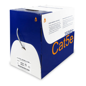 Cat5e Cable With CMR-Rated PVC Jacket, FTP & ETL - White