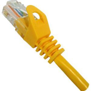 CAT5e Ethernet Patch Cable Snagless in Yellow RJ45, M/M