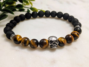 Tiger Eye Skull - Hidden Gems by Raquel
