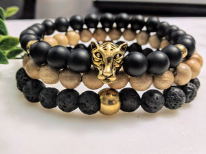 Panther Head Stack - Onyx - Hidden Gems by Raquel