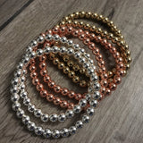Hematite Stackers - 6mm - Hidden Gems by Raquel