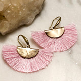 Fan Tassel Earrings - Hidden Gems by Raquel