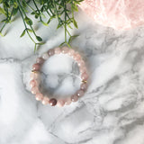 Strawberry Jade & Hematite Bracelet