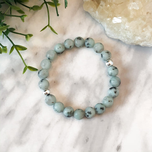 Matte Sesame Jasper Stacker - Hidden Gems by Raquel