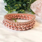 Rose Gold Hematite Stacker - 4mm