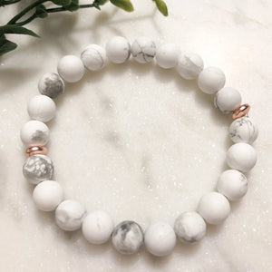 Howlite Stacker Bracelet - Hidden Gems by Raquel