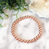 Rose Gold Hematite Stacker - 6mm