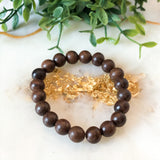 Wedge Wood Stackable Bracelet - Hidden Gems by Raquel