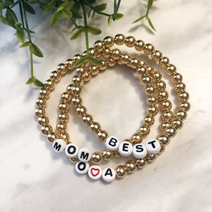 Letter Hematite Stackers - 6mm - Hidden Gems by Raquel