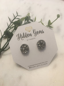 Round Druzy Earrings - Hidden Gems by Raquel